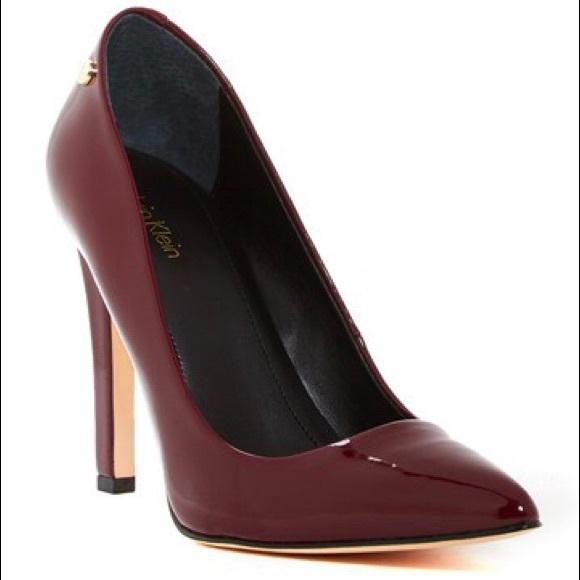 a289d7727dd6 Calvin Klein Shoes - Calvin Klein - Brady Patent Pump in Cherry Red
